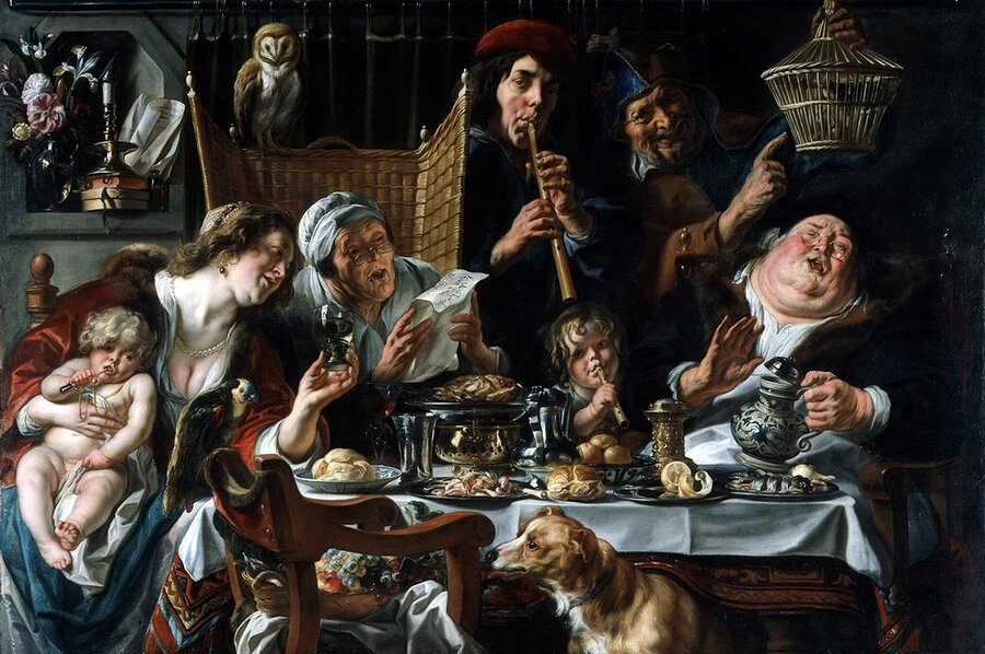 Jacob Jordaens as the old sing so the young pipe.700.jpg